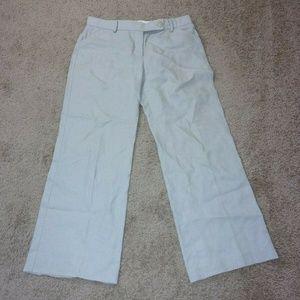 J. Crew Linen Pants Wide Leg 10 Taupe